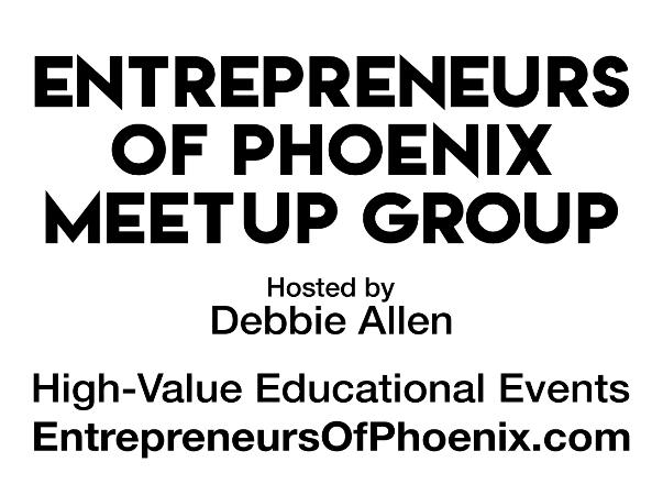 Debbie Allen's Entrepreneurs of Phoenix Meet Up banner