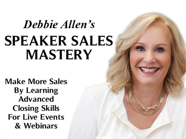 Debbie Allen's Speaker Sales Mastery Event banner