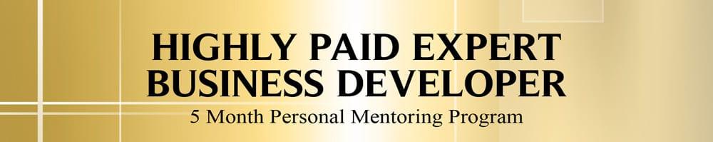 Highly Paid Expert Business Developer Program banner