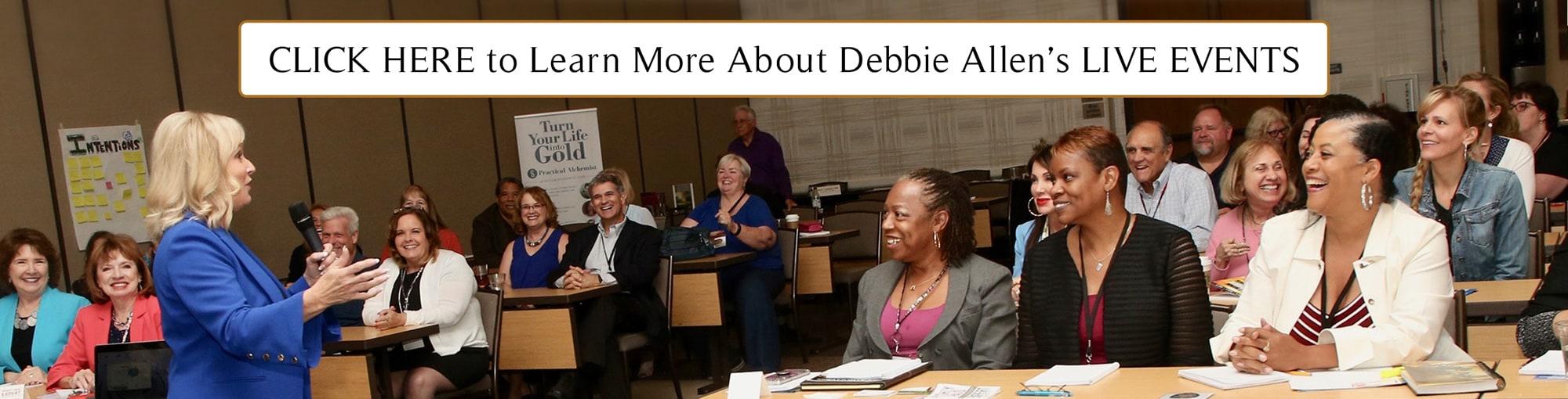 Debbie Allen Live Events banner