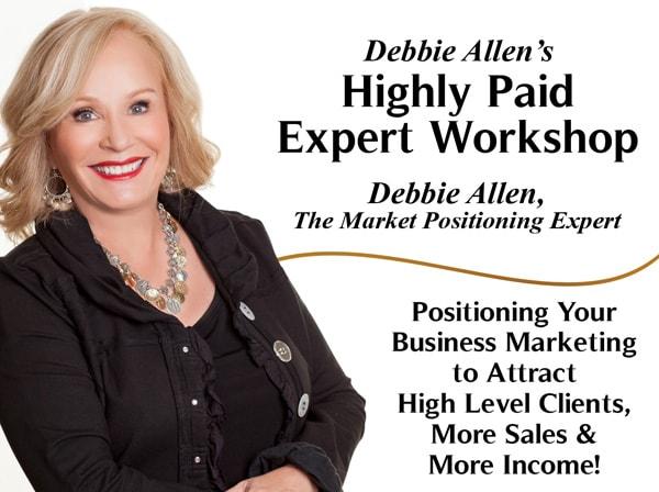 Debbie Allen's Highly Paid Expert Workshop Event banner