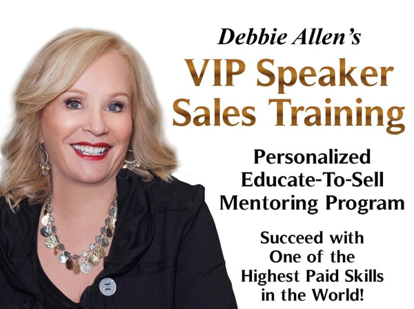 Debbie Allen's VIP Speaker Sales Training Event  banner