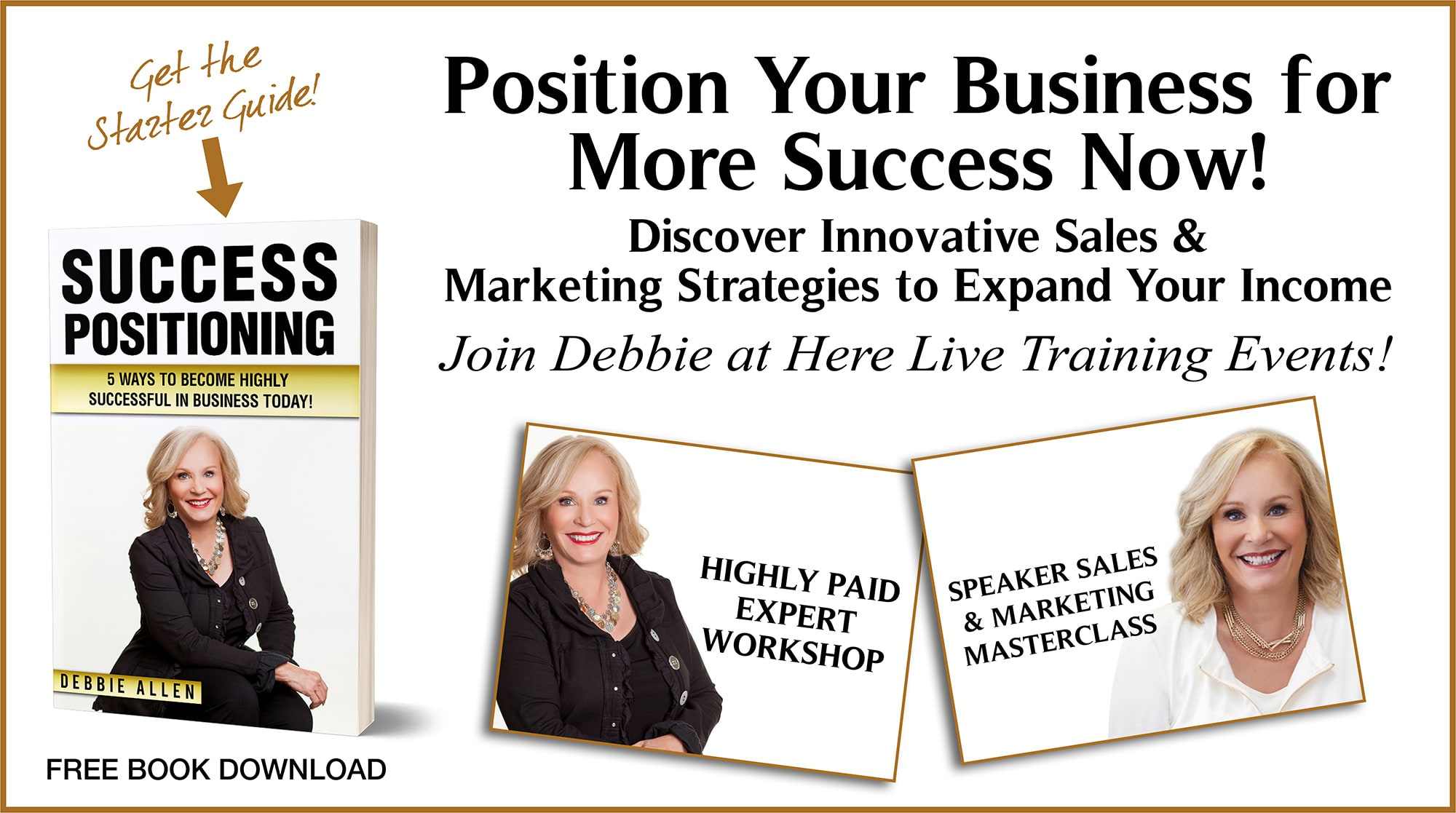 Debbie Allen Innovative Marketing Strategies banner