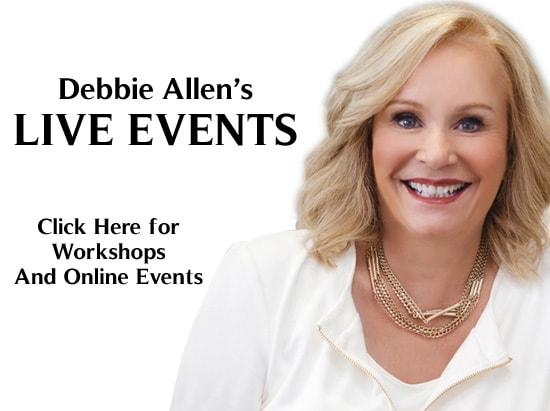 Debbie Allen's Live Events banner