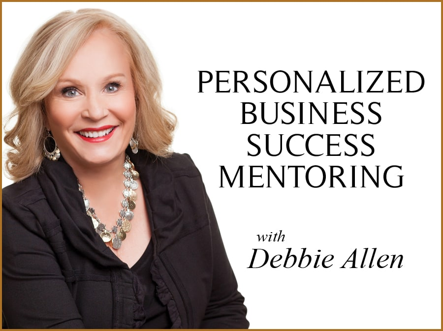 Debbie Allen's Personalized Business Success Mentoring banner