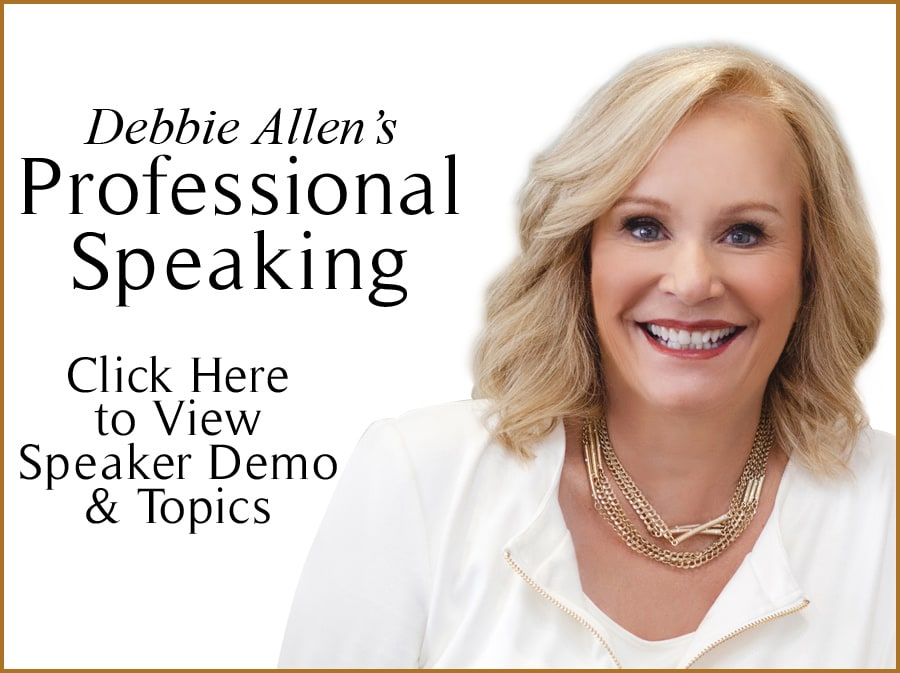 Debbie Allen's Professional Speaking banner